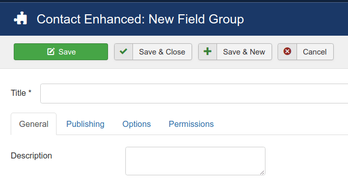 Contact Field Groups New