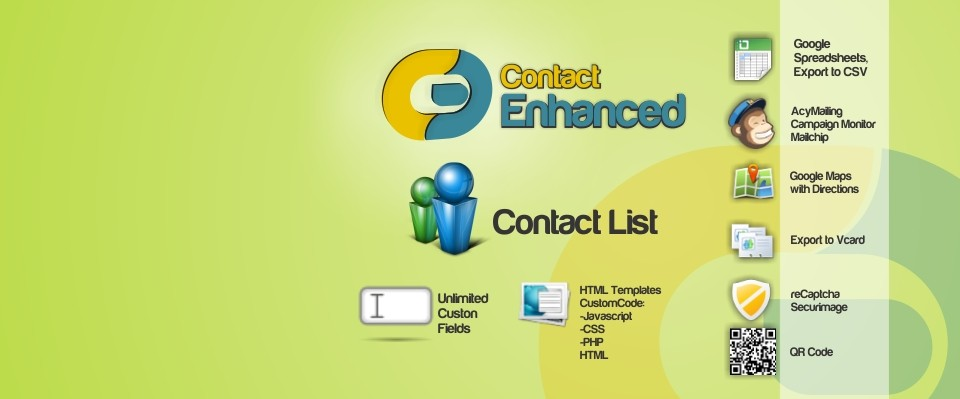 Contact Enhanced ComponentAllows you to have several contacts and form custom fields (see full list). There are many integrations available, so you can use your favorite software/services with Contact Enhanced.