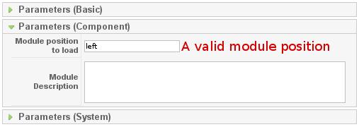 M2C - Component Parameters