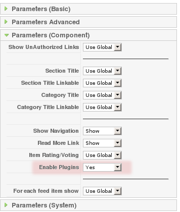 Contact Enhanced Menu Parameters:: Enable Plugin