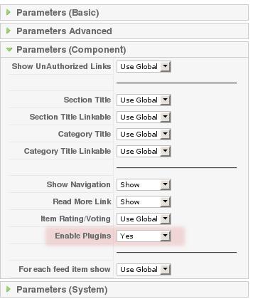 Contact Enhanced Menu Parameters:: Enable Plugin